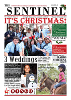 Sentinel newspaper from SHBC St Helena, 20 December 2012, vol 1 issue 39